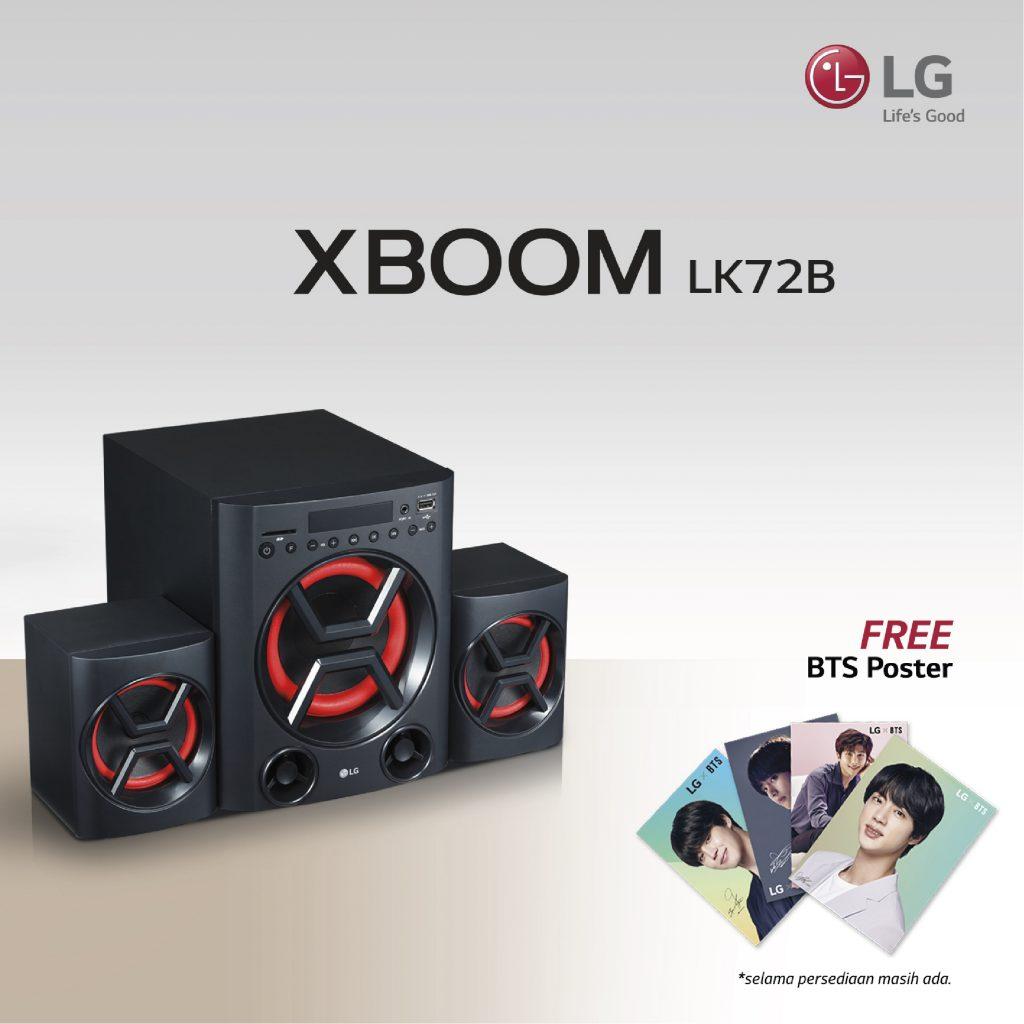 LG XBOOM LK72B, Speaker Mungil Serbaguna dengan Bass Menggoda