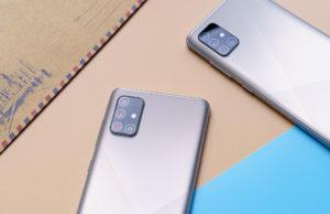Samsung Galaxy A51dan Glaxy A71 Haze Crush Silver