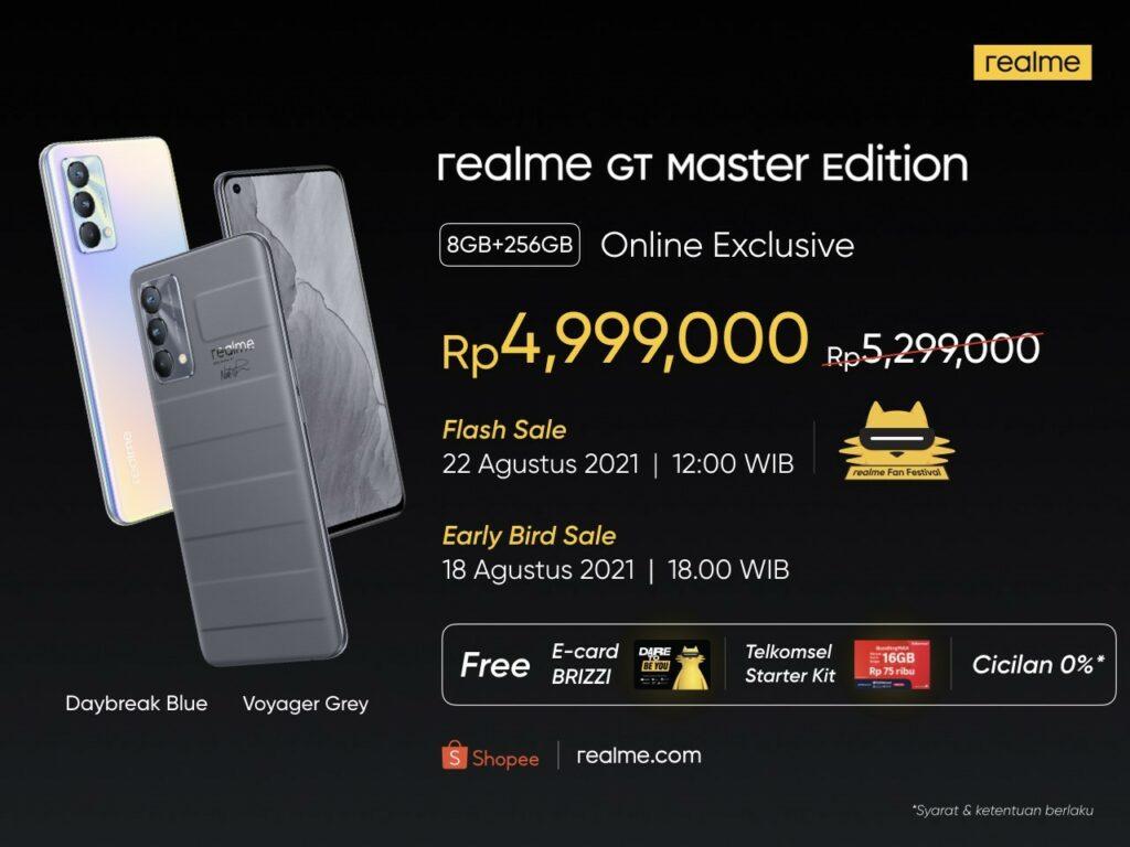 rilis realme gt master edition indonesia
